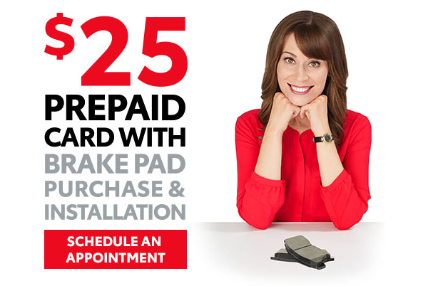 25 Prepaid Card With Brake Pad Purchase Installation